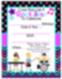 Rock Star Birthday Party Free Printable Invitation