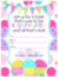 Sugar & Spice Birthday Party Free Printable Invitation