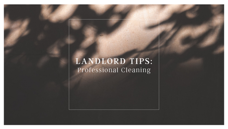 Landlord Tips: Professional Cleaning