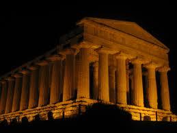 tempio della concordia di notte