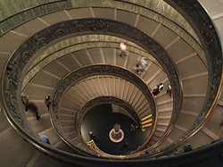 6_ Spiral stairs of the Vatican Museums