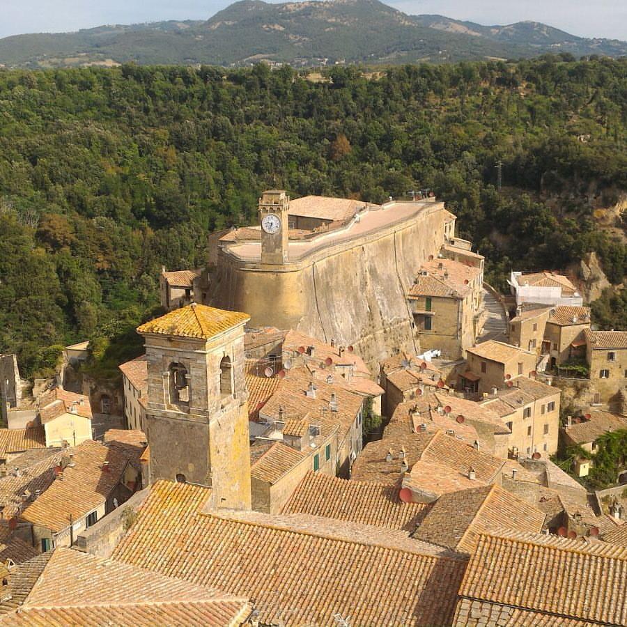 sorano, view from Orsini