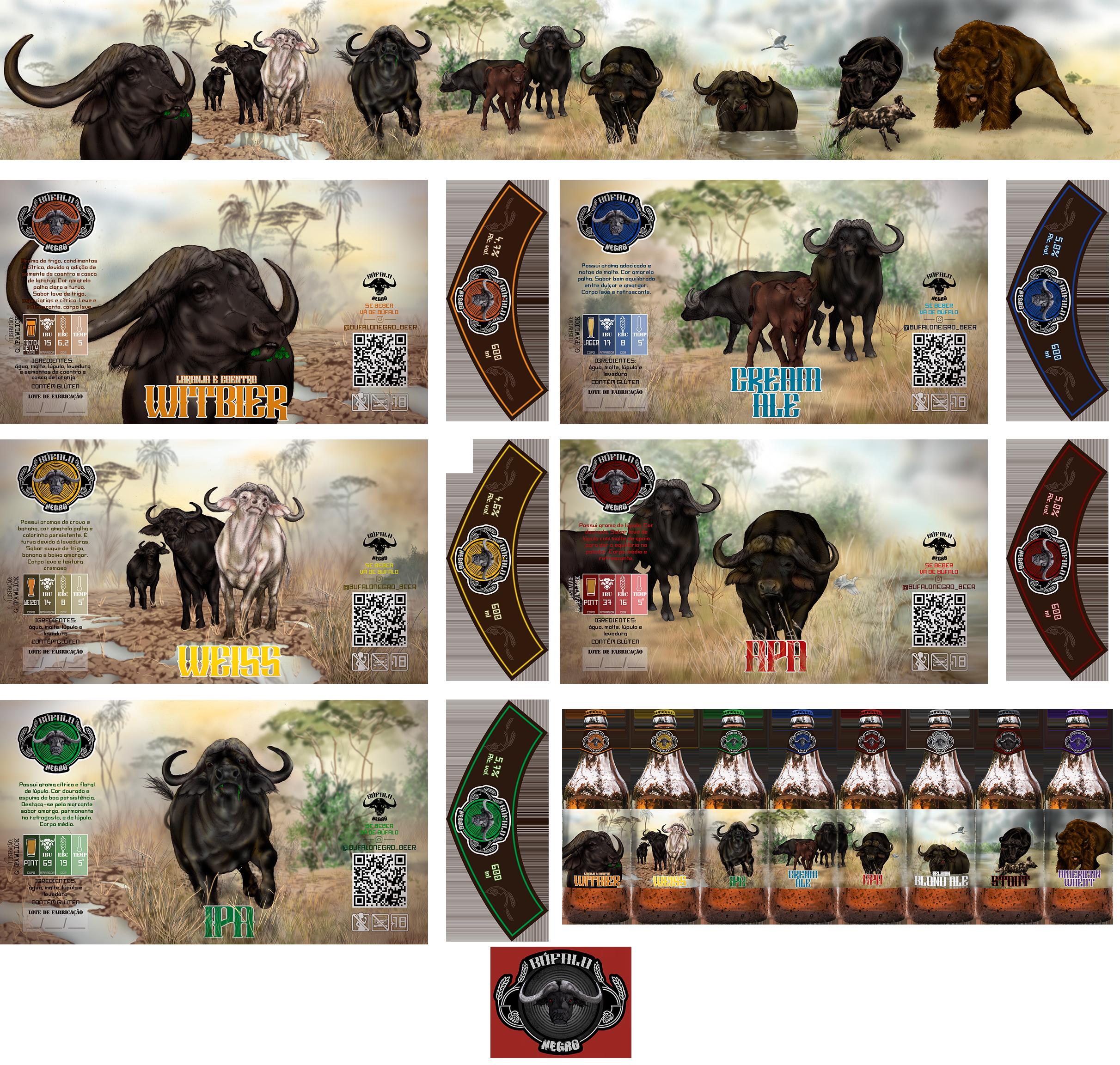 Búfalo Negro rótulos