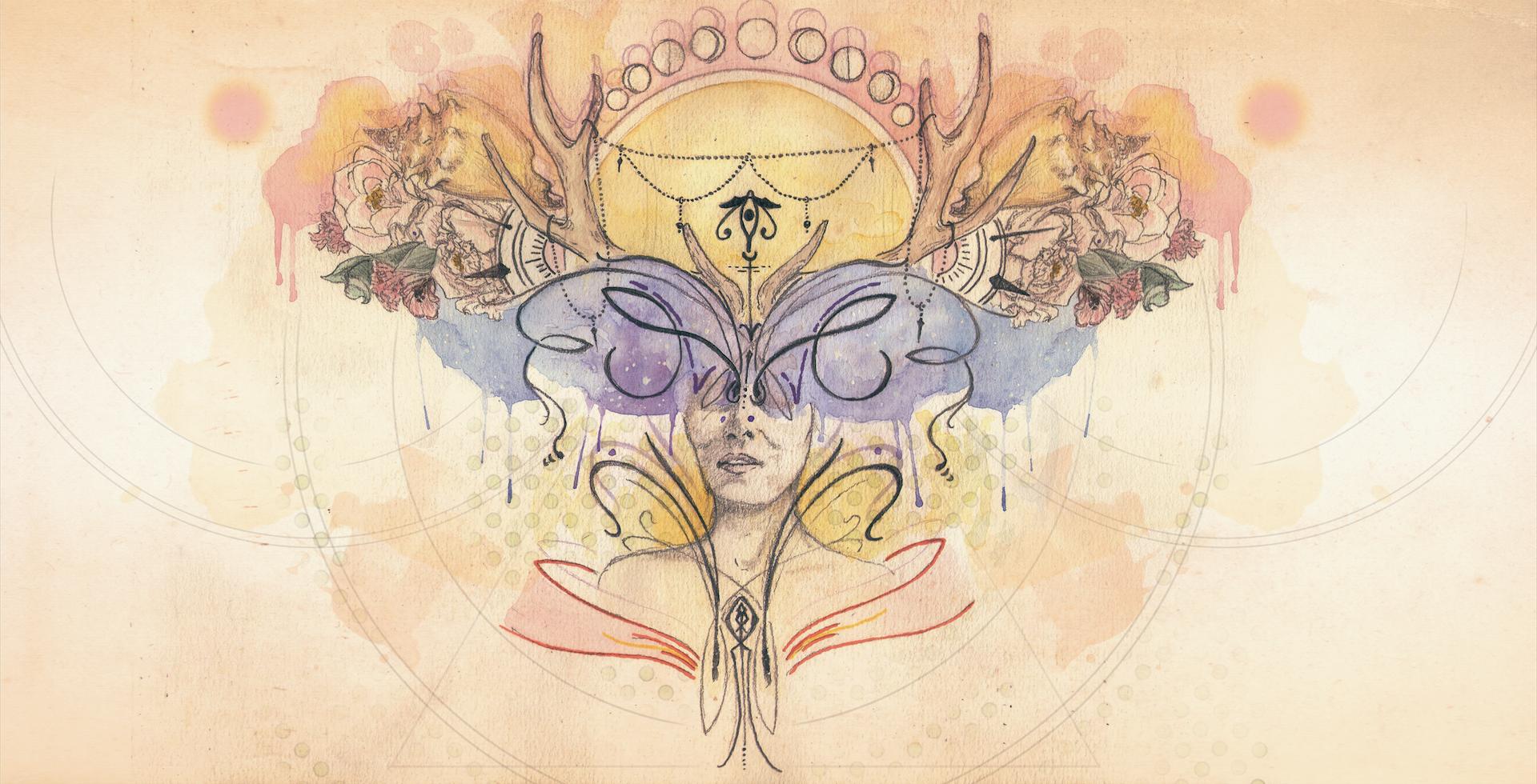 Encarte Pilgrimage - Din Rose álbum