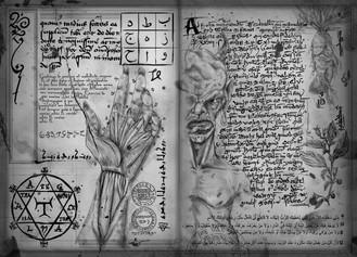 Páginas Al Azif, o Necronomicon