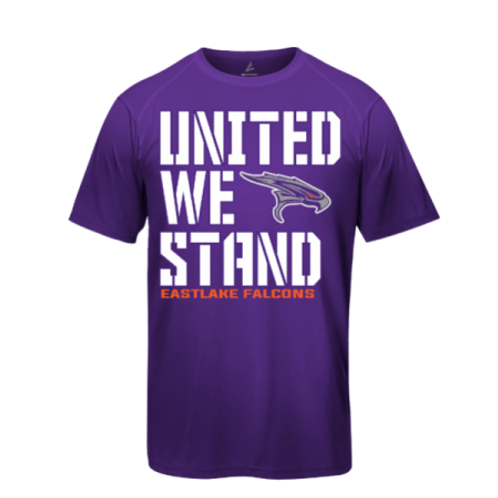 """United We Stand"" Purple Falcon T-Shirt"