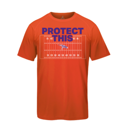 """Protect This"" Orange Falcon T-Shirt"