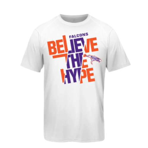 """Believe The Hype"" White Falcon T-Shirt"