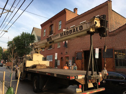 Crane to lift HVAC units