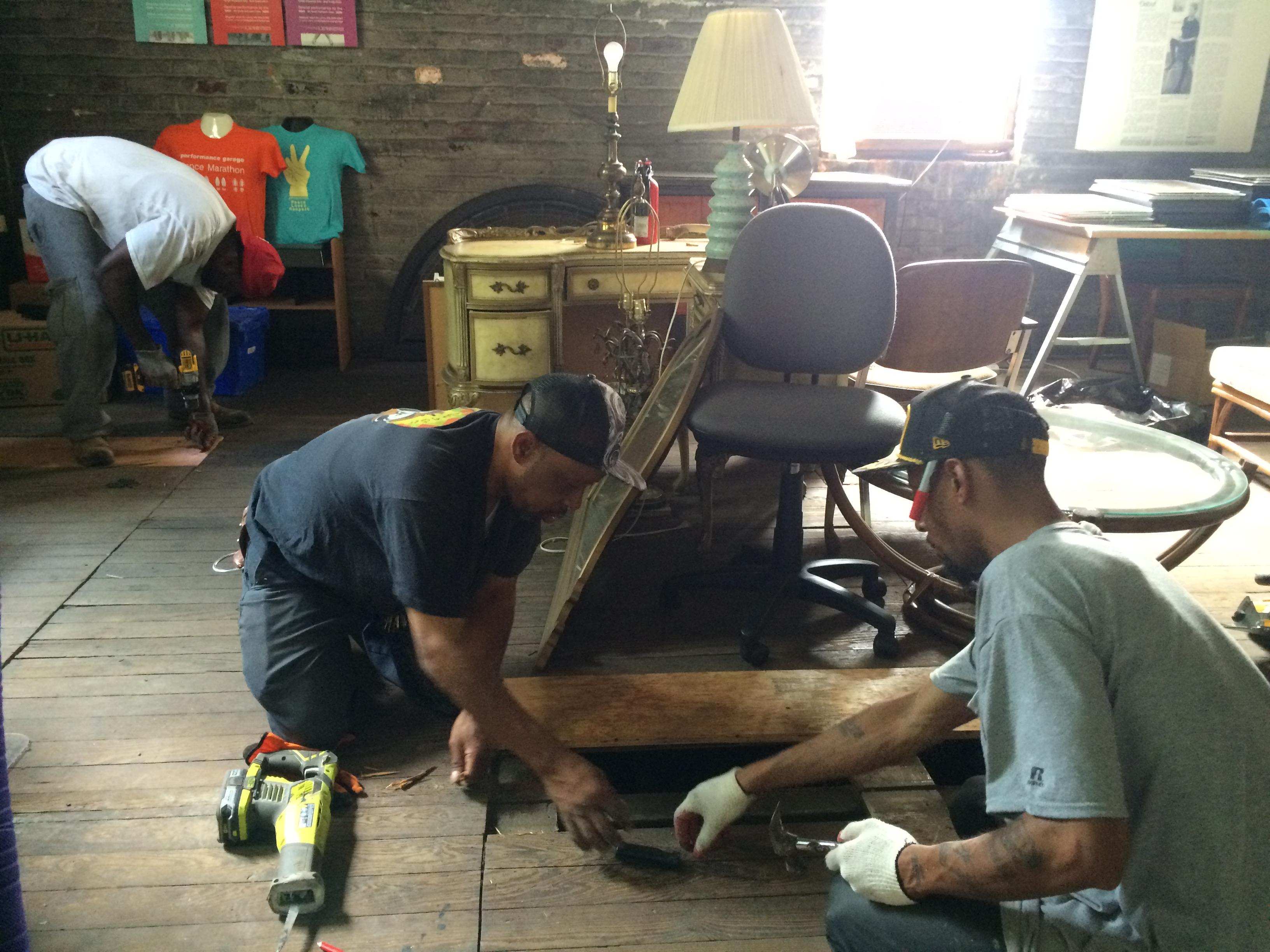 Repairing the Office Floor
