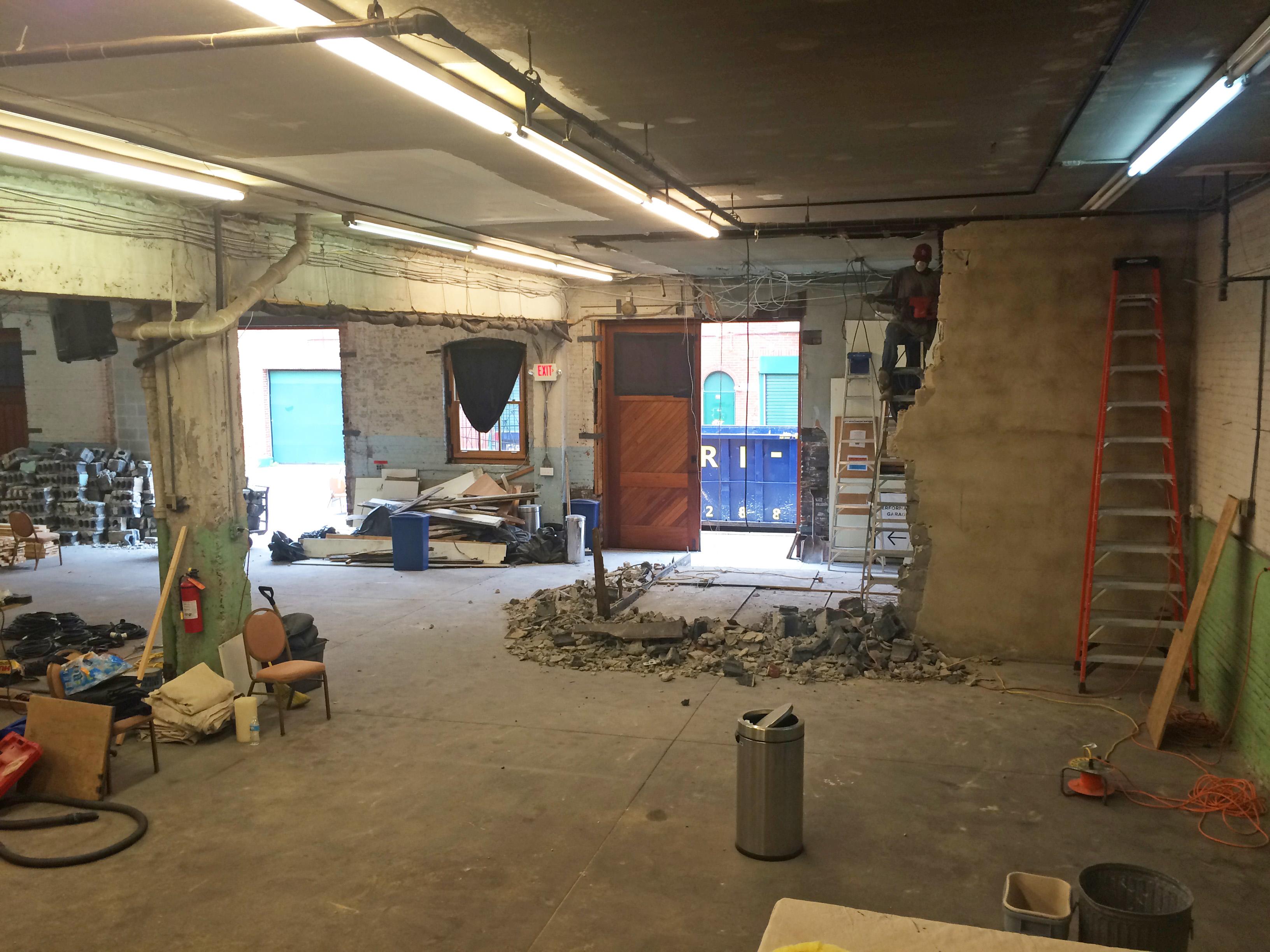 Entryway/Theater Demolition