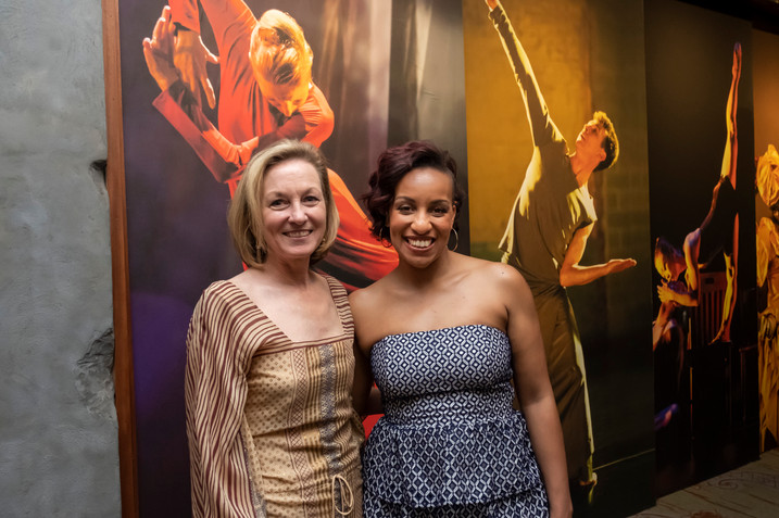 Jeanne Ruddy and DanceVisions Resident Artist Dawn Marie Bazemore
