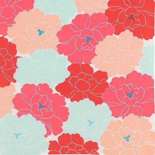 Furoshiki S size: Adeline Klam, Peony Red