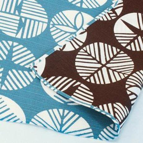 Furoshiki S size- Isa monyo reversible Blue/ Brown