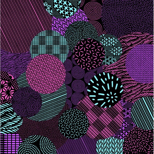 Furoshiki M: Maru Komon (Purple)