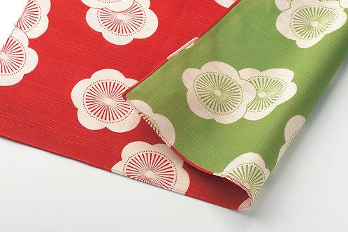 Furoshiki S: Isamonyo, Red & Green