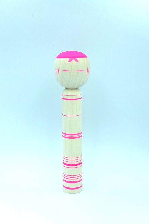 Kokeshi Kaguya/ Pink Stripes