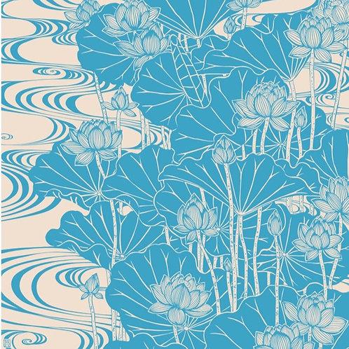 Furoshiki M: Lotus Blue
