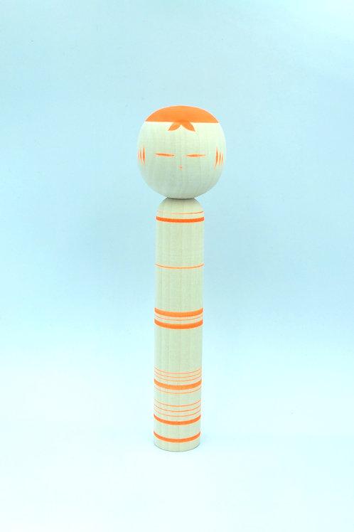 Kokeshi Kaguya / orange stripes