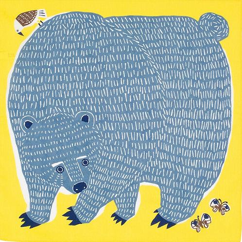 Furoshiki S size: A bear & a bird
