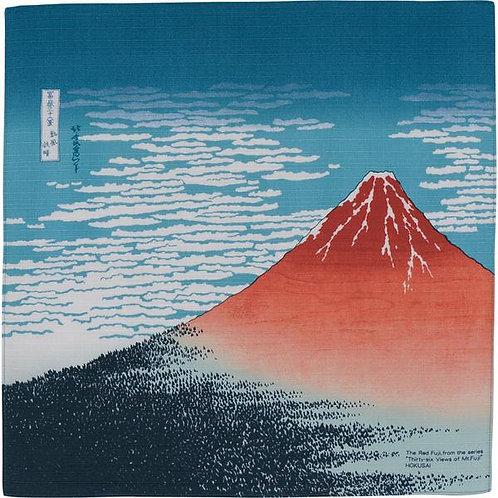 Furoshiki M size- Red Fuji, Hokusai