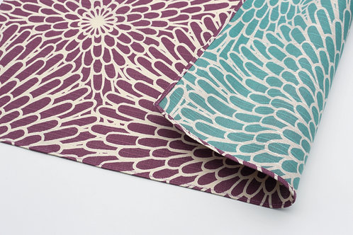 Furoshiki S: Isamonyo, Chrysanthemum, Purple & Blue