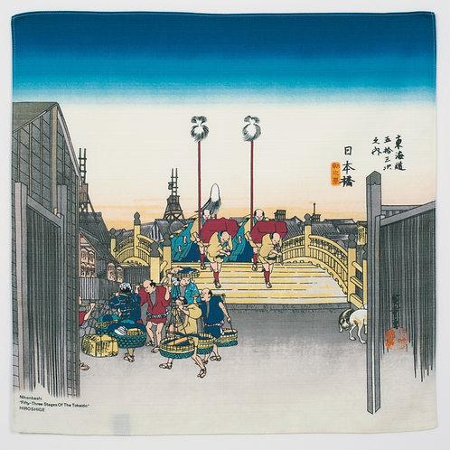 Furoshiki S size: Hiroshige, The morning view of Nihonbashi