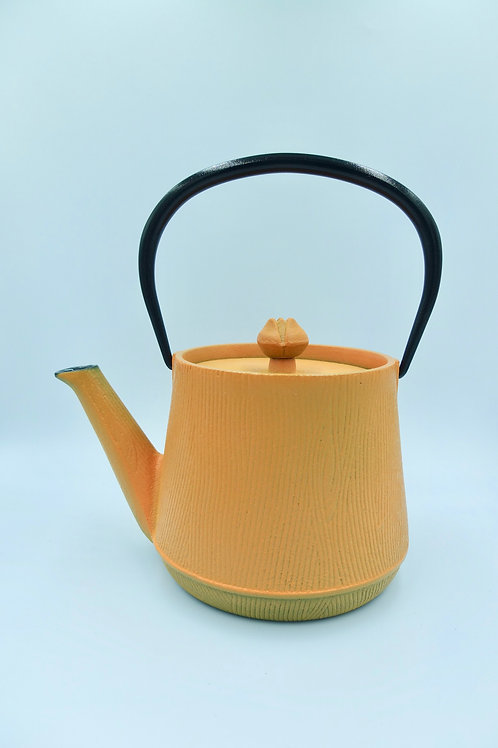 Nambu Iron teapot Flower (Orange)