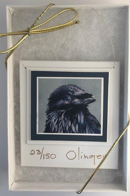 Tree Ornament - Flegdling Raven