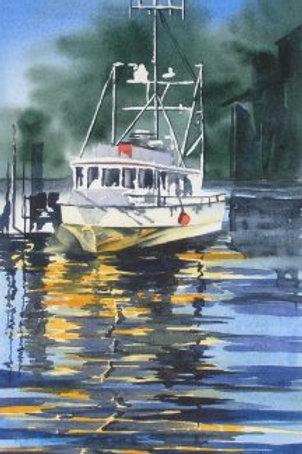 Rupert Boat - Original Watercolor