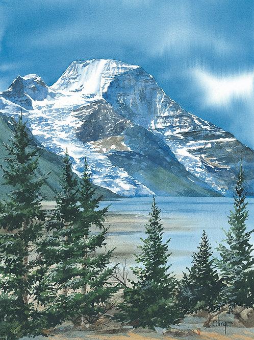 "Mount Robson - Magnet -  Dim 2 3/4 x 2 1/4"""