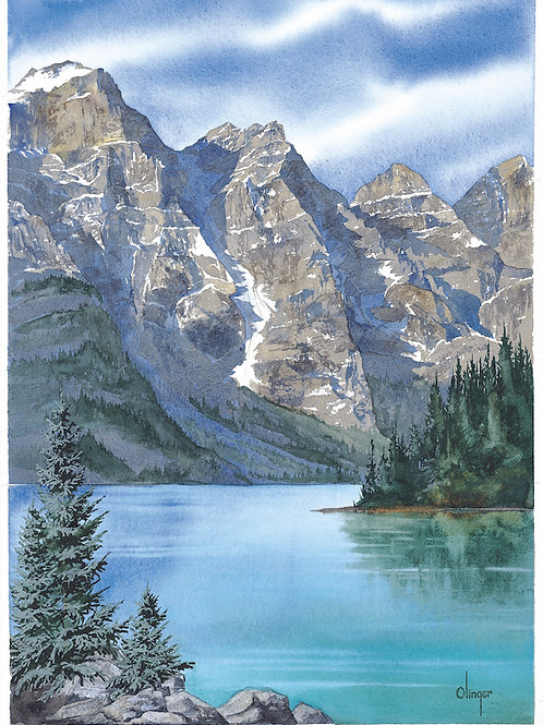 Moraine Lake - Magnet -  Dim 2 3/4 x 2 1/4""