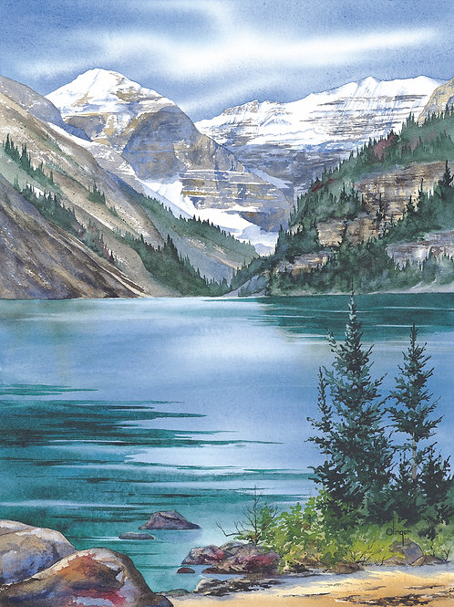 Lake Louise - Magnet -  Dim 2 3/4 x 2 1/4""