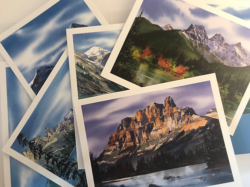 Rocky Mountain Note Card Set (8 different images)