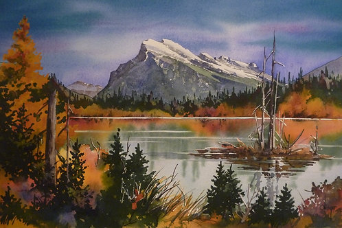 Mount Rundle, Autumn - Limited Edition - Framed