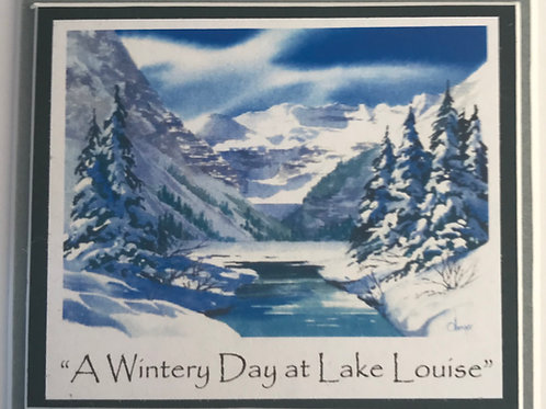 A Wintery Day at Lake Louise - Magnet - Dim 3 x 31/4""