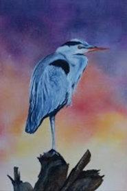 Heron I - Original Watercolor