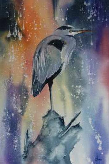 Heron II - Original Watercolor