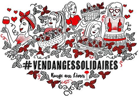 T-Shirt Rouge aux Lèvres x Vendanges Solidaires