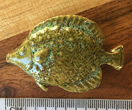 Ceramic Fish, in Antique Green