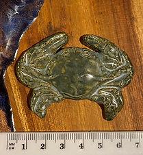 Ceramic Crab, in Blue Grey