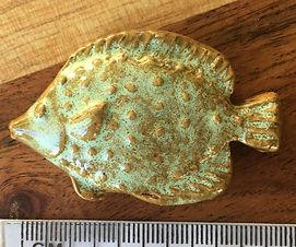 Ceramic Fish, in Golden Green