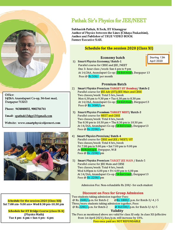 Pathak Sir, Admission 2020 session-page-