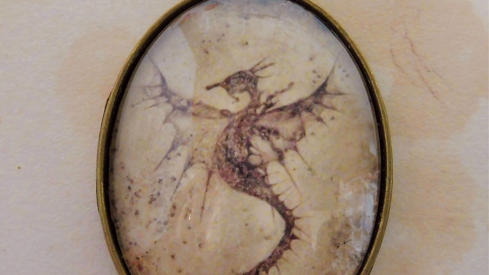 Sepia Dragon Pendant