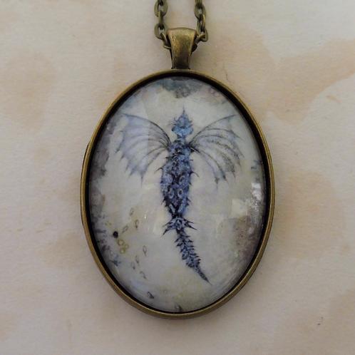 Blue Sea Dragon Pendant