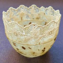 Small Paper Dreams bowl. Inlaid.
