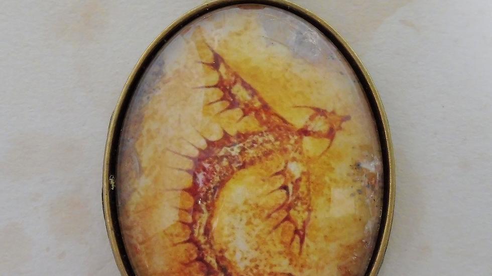 Rust Dragon Pendant