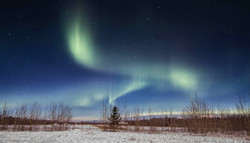 Aurora Borealis trails