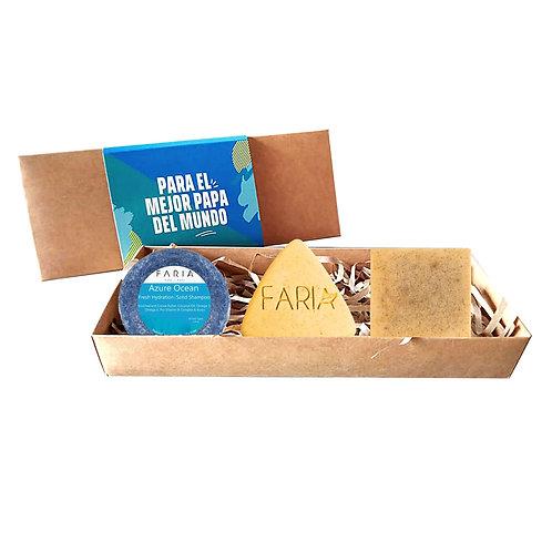 Pack Eco Dad: 1 Shampoo + 1 Jabón Rostro +  Jabón Corporal