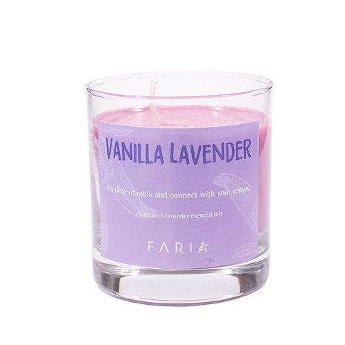 Vela de Cera de Soja: Vanilla Lavender